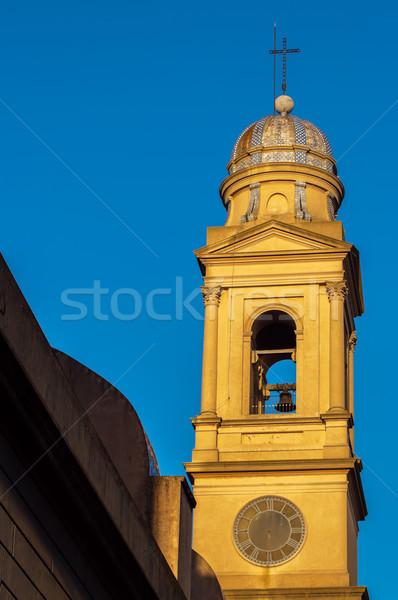 Güzel sarı kilise Montevideo Uruguay Stok fotoğraf © jkraft5