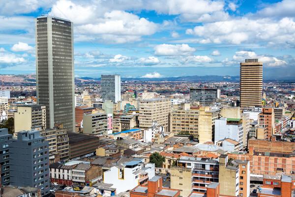 Belváros Bogotá Colombia kilátás épület város Stock fotó © jkraft5
