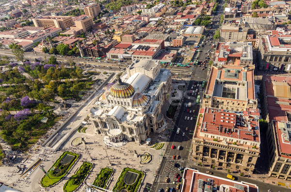 Mexico City Aerial View Stock photo © jkraft5