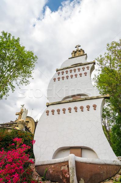 Velero estatua basílica Ciudad de México ciudad azul Foto stock © jkraft5