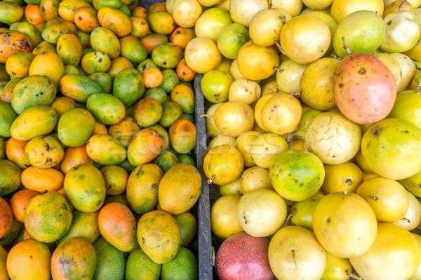 świeże owoce rynku świeże pasja owoców Święty mikołaj Zdjęcia stock © jkraft5