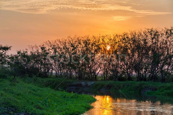 River Sunset Stock photo © jkraft5