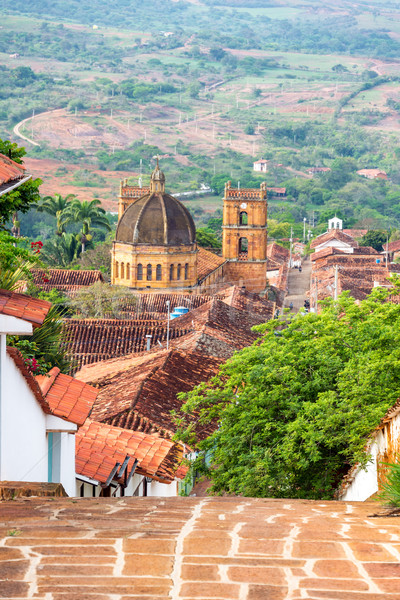 Barichara Town and Cathedral View Stock photo © jkraft5
