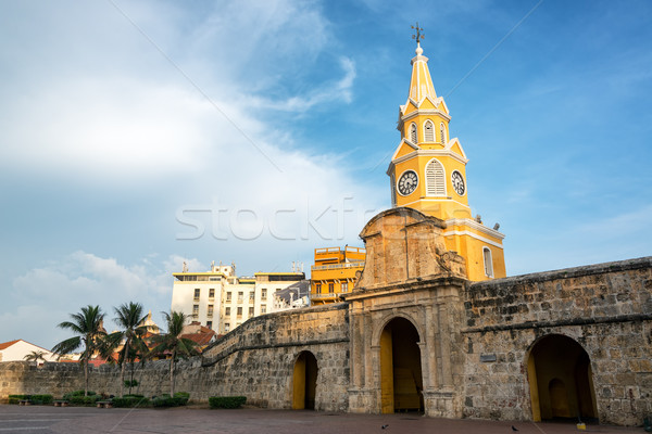 Beautiful Historic Clock Tower Gate Stock photo © jkraft5