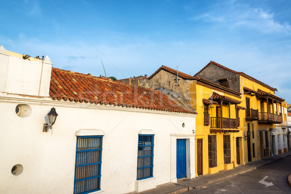 Colonial Street in Cartagena Stock photo © jkraft5