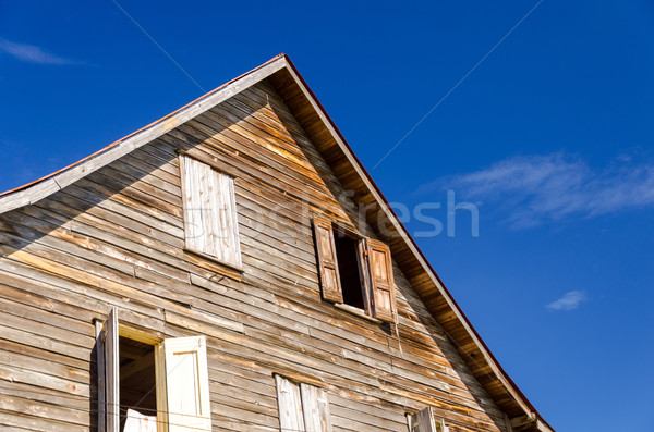 Old Weathered Wooden Building Stock photo © jkraft5