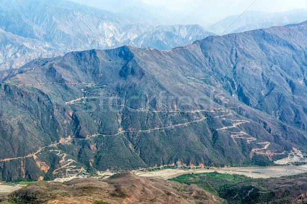 Kanyon manzara gökyüzü doğa ışık Stok fotoğraf © jkraft5