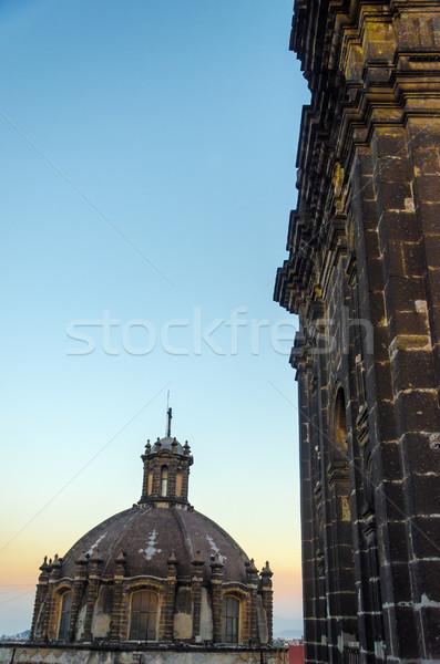 大聖堂 ドーム メキシコシティ 遅い 午後 教会 ストックフォト © jkraft5