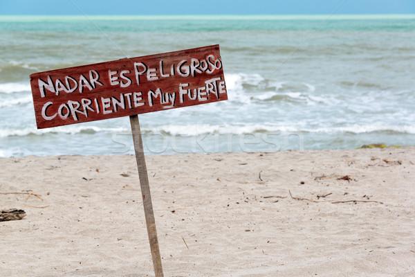 No Swimming Sign Stock photo © jkraft5