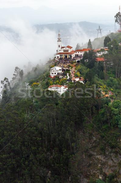 Kilátás templom magas fölött Bogotá Colombia Stock fotó © jkraft5