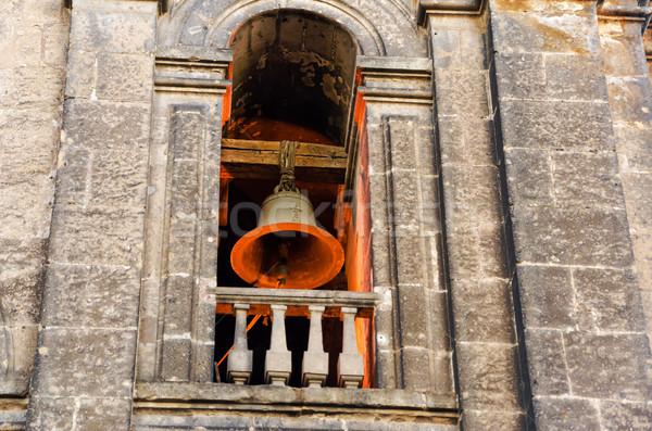 вверх колокола башни оранжевый свет падение Сток-фото © jkraft5