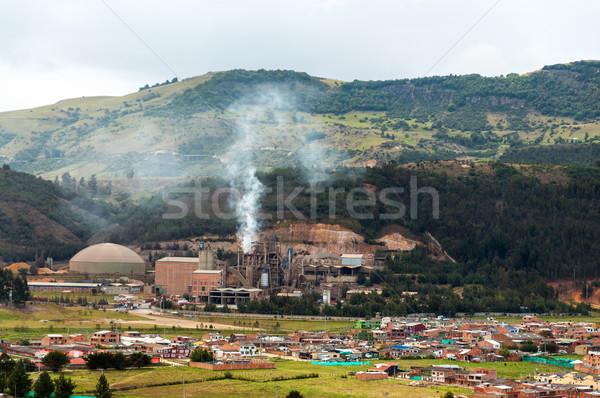 Factory Pollution Stock photo © jkraft5
