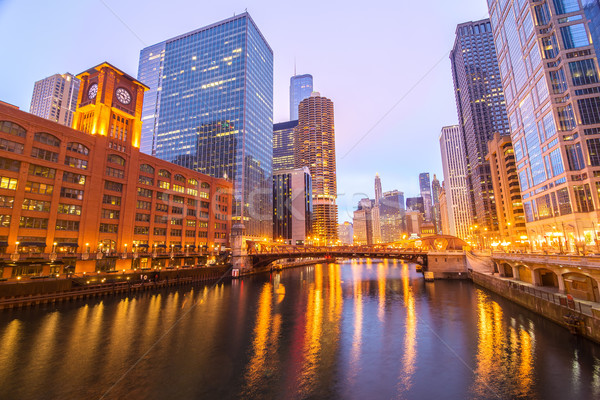 Chicago River View Stock photo © jkraft5