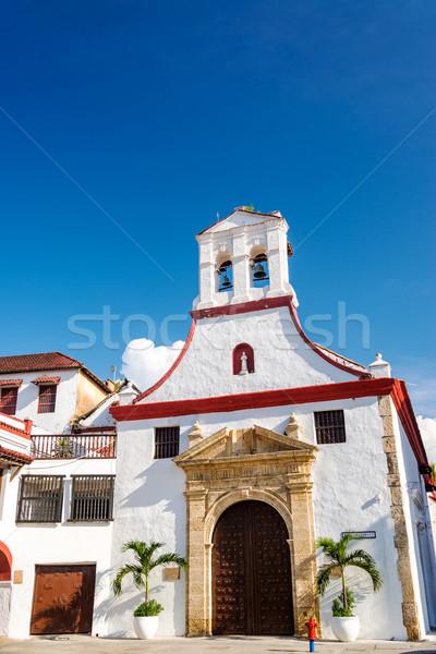 Beyaz sömürge kilise Stok fotoğraf © jkraft5