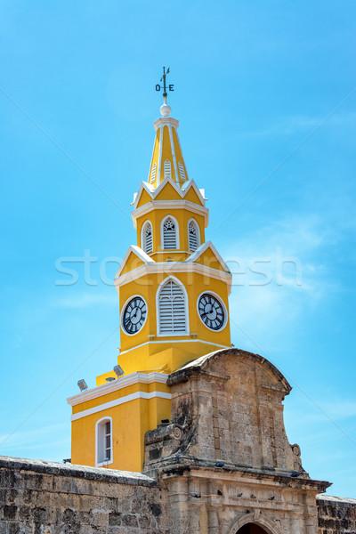 Cartagena Clock Tower Gate Stock photo © jkraft5