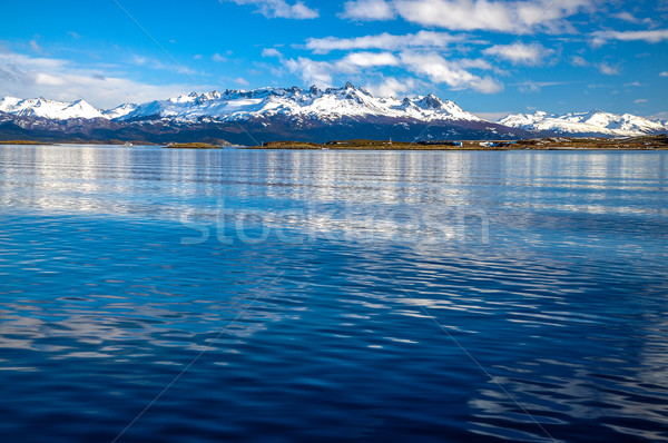 The Beagle Channel and Mountains Stock photo © jkraft5