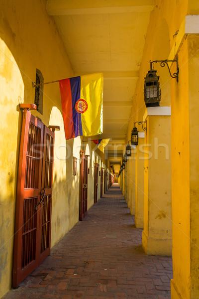 Passageway and Flags Stock photo © jkraft5