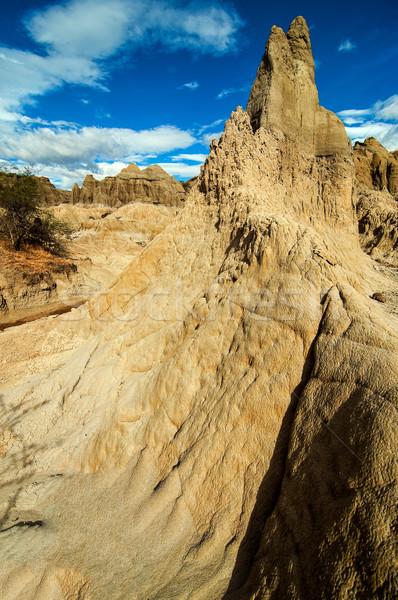Natürlichen Stein Säule weiß Aufgang Wüste Stock foto © jkraft5