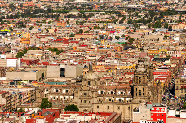 Aerial View of Mexico City Cathedral Stock photo © jkraft5