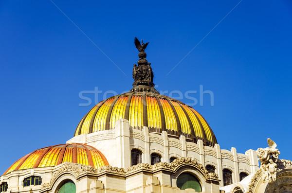 Kupola narancs citromsárga Mexikóváros égbolt város Stock fotó © jkraft5