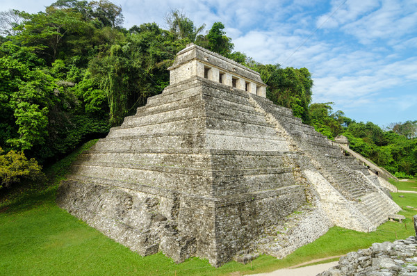 Palenque Temple of Inscriptions Stock photo © jkraft5