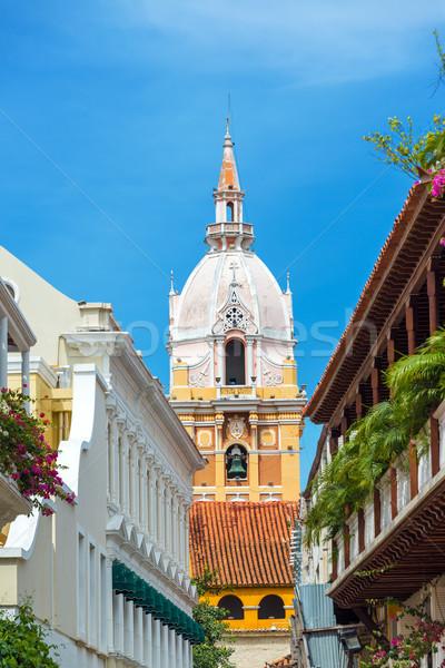 Vertical Cartagena Cathedral Stock photo © jkraft5