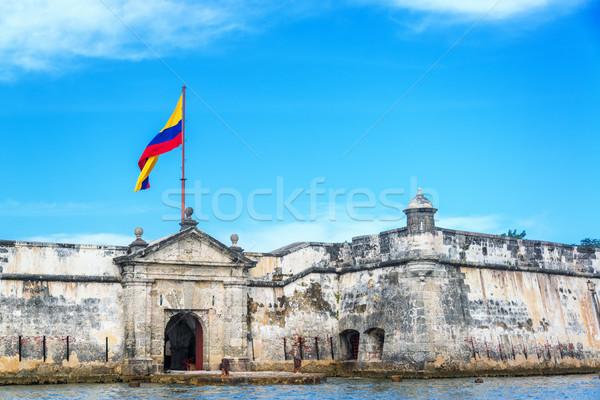 Fort fronte storico cielo acqua blu Foto d'archivio © jkraft5