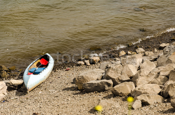 Canoe on River Bank Stock photo © jkraft5