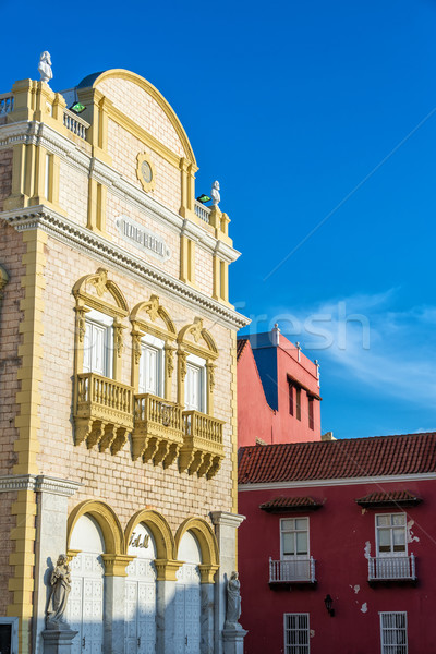 Cartagena Theater Facade Stock photo © jkraft5