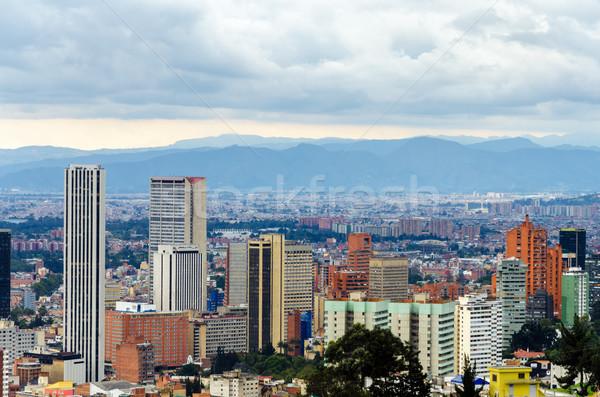 Bogotá Colombia sziluett kilátás épület város Stock fotó © jkraft5