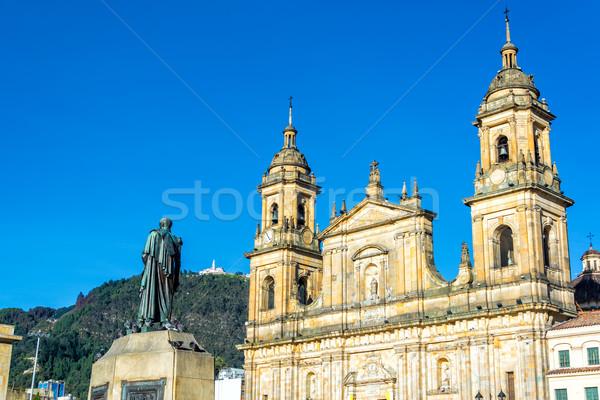Katedrális Bogotá Colombia kilátás központ látható Stock fotó © jkraft5