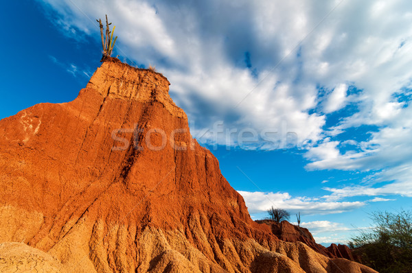 Towering Red Rock Formation Stock photo © jkraft5