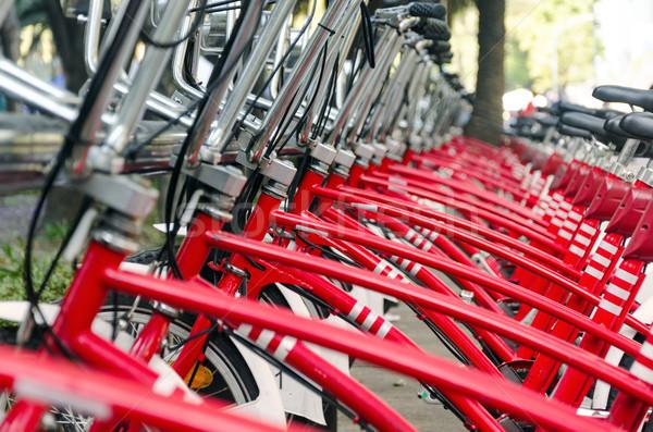 красный Велосипеды долго Мехико общественного Сток-фото © jkraft5
