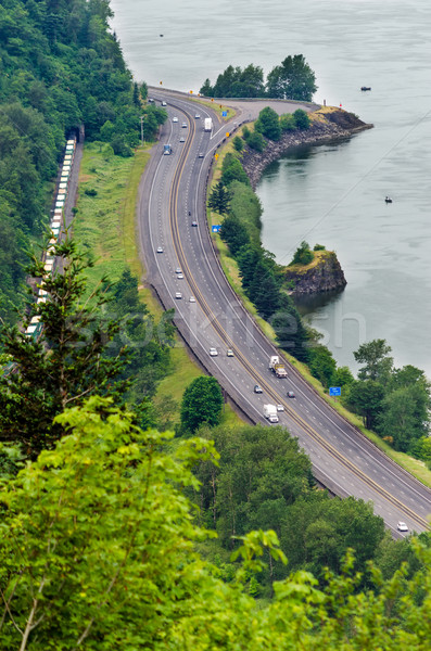 Highway by the Columbia River Stock photo © jkraft5