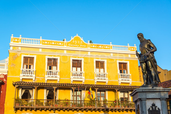Yellow Building and Statue Stock photo © jkraft5