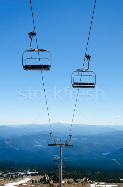 Chairlift Down Mount Hood Stock photo © jkraft5