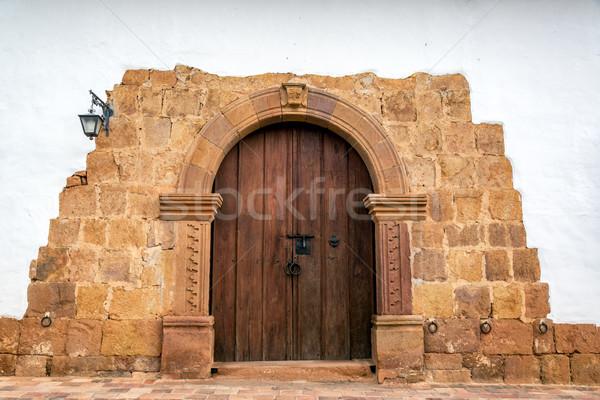 Beautiful Stone Entrance Stock photo © jkraft5