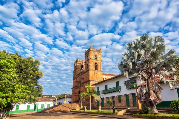 Katedral güzel kumtaşı kasaba Kolombiya Stok fotoğraf © jkraft5
