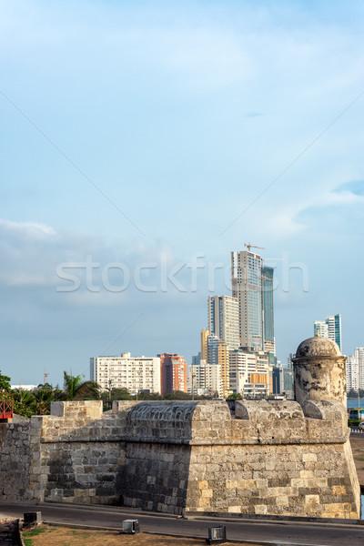 Gökdelen Cityscape şehir duvarlar modern gökdelenler Stok fotoğraf © jkraft5