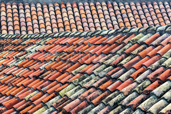 Old Tiled Roof Stock photo © jkraft5