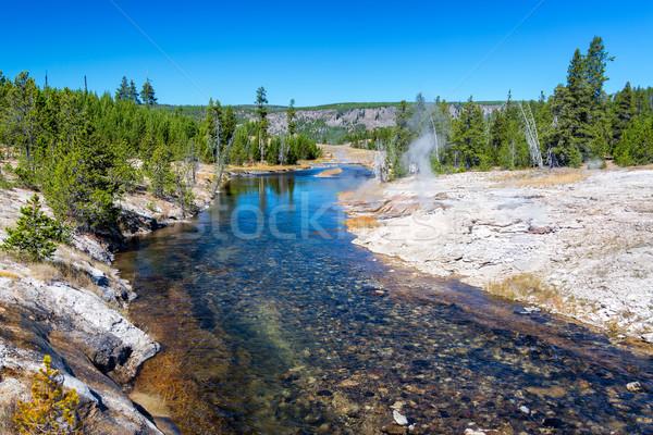Nehir şofben görmek gökyüzü su mavi Stok fotoğraf © jkraft5