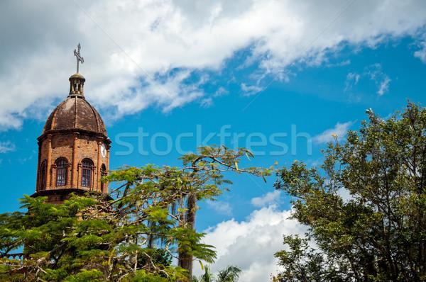 美しい 教会 青空 ドーム セット 雲 ストックフォト © jkraft5