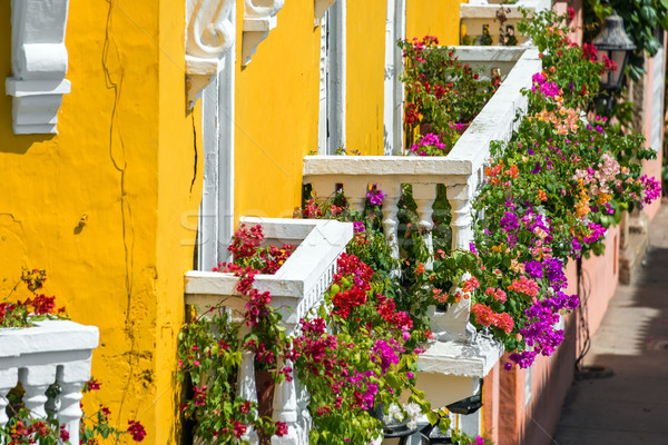 Colorful Balconies Stock photo © jkraft5