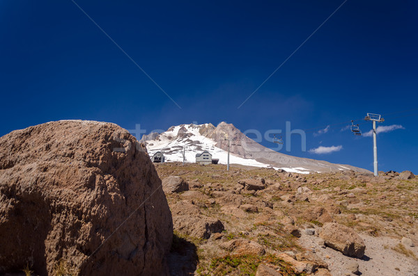 Boulder and Mount Hood Stock photo © jkraft5