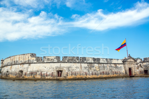 Storico fort view cielo acqua blu Foto d'archivio © jkraft5