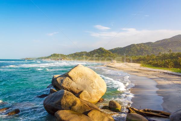Tayrona Beach and Rocks Stock photo © jkraft5