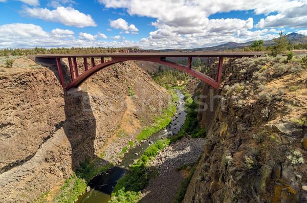Autostrady most rzeki kanion centralny Oregon Zdjęcia stock © jkraft5