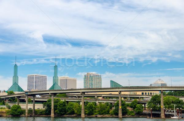 Stadsgezicht Oregon conventie centrum infrastructuur stad Stockfoto © jkraft5