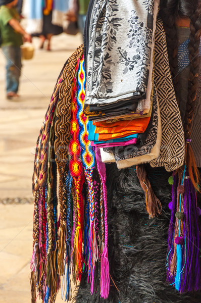 Mexican sprzedaży ulicy projektu niebieski rynku Zdjęcia stock © jkraft5