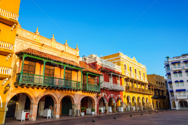 Historic Colonial Facades Stock photo © jkraft5